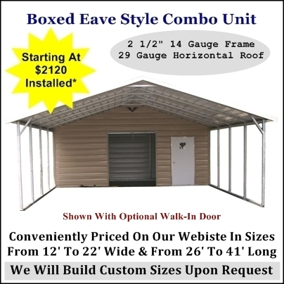 Eagle Metal Carport With Storage
