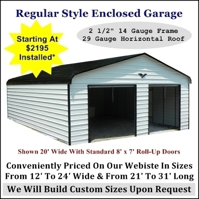 Enclosed Garage Regular Style